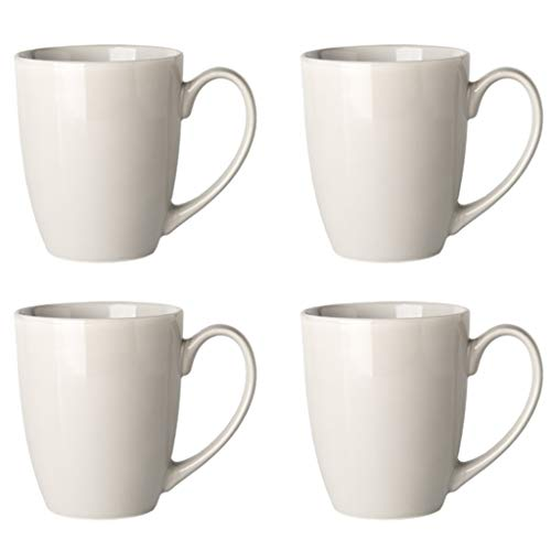 Kaffee- Teegläser Kaffeetasse Kreative Keramik Tasse Süß Candy Farbe Becher Persönlichkeit Kaffeetasse Einfache Einfarbige Tasse Gesetzt (Color : Gray, Size : A)