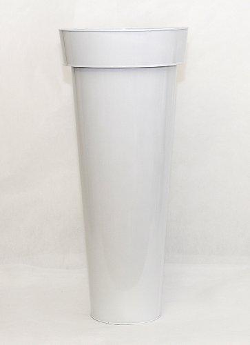 Cylindre Évasée en Fer Blanc Haut 100 Cm Diamètre 42 Cm