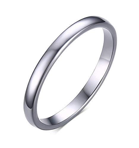Rockyu ブランド 人気 タングステン 指輪 レディース シルバー シンプル 婚約指輪 おしゃれ アクセサリー 29号