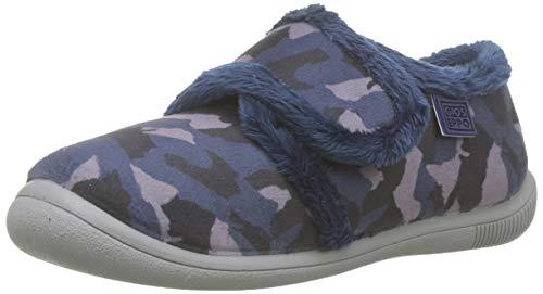 Gioseppo 57042, Zapatillas de Estar por casa con talón Abierto para Niños, Azul (Marino...