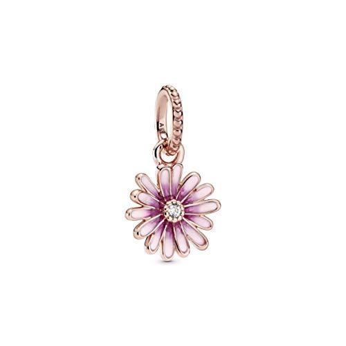 Pandora Rosafarbenes Gänseblümchen Charm-Anhänger