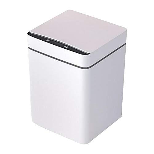 Mdsfe Bote de Basura Inteligente de 12L, Sensor de Movimiento infrarrojo de inducción automático, Cubo de Basura, hogar, Cocina, baño, Basura, Cubo de Basura-Reino Unido