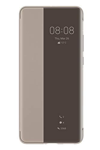 Huawei P40 Pro Smart View Flip Handyhülle, Originalzubehör, Khaki