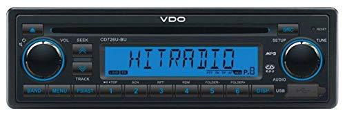 VDO CD726U-BU 24 Volt - CD/MP3-Autoradio mit USB / AUX-IN