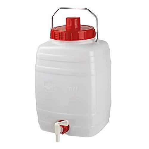 DeTec Gärfass Maischefass Mostfass Getränkefass Weinfass Gärbehälter 10 Liter
