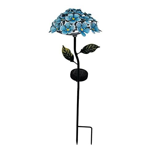 LOVIVER Flor de hortênsia fundido impermeável ao ar livre Luz solar para jardim Luz decorativa para quintal Caminho do gramado Passarela Luzes da - Azul