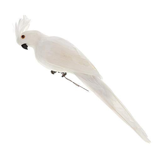 Broadroot Loros Artificiales Foam Bird, pájaros Decorativos para Manualidades Artificial Bird Toy Art Office Decor (Blanco)