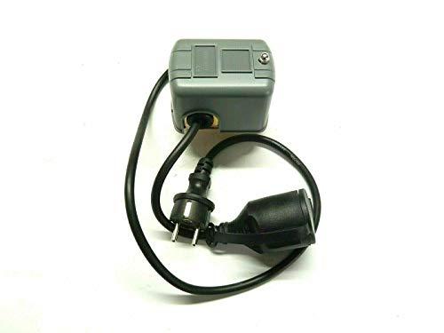 CHM GmbH® Druckschalter Druckregler Druckwächter für Gartenpumpe Hauswasserwerk bis 5 Bar Ein- Ausschalt Druck einstellbar mit Stecker und Kupplung