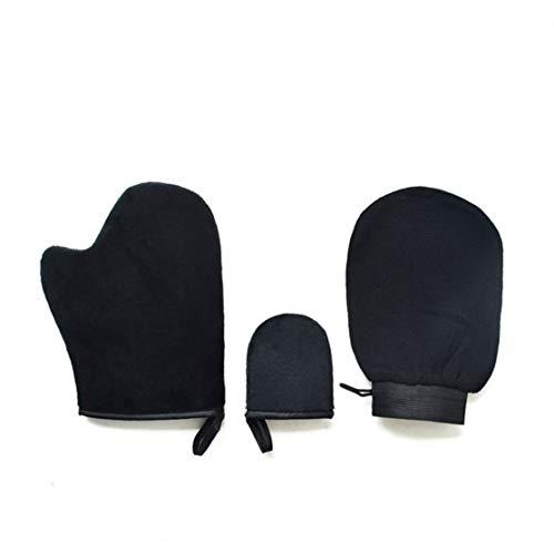 Licini 3 uds, guante exfoliante mágico, guante exfoliante para eliminar el bronceado, autobronceador, crema de limpieza corporal, mousse, aplicador de autobronceador