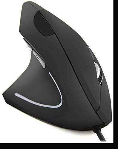 Left Handed Mouse,Ergonomic Optical USB Wired Vertical Mouse Gaming Mice 800/1200/1600 DPI 6 Buttons for PC Laptop Computer Desktop Mac