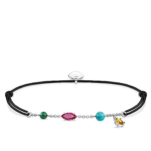 Thomas Sabo Damen-Armband Little Secret Farbige Steine 925er Sterlingsilber LS079-965-7-L20v