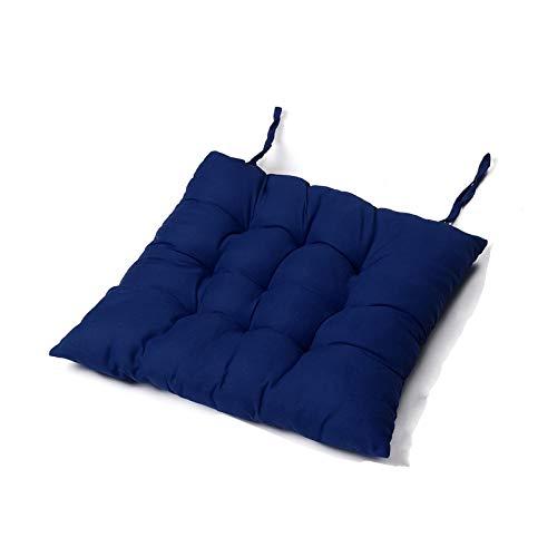 Stuhlkissen Solide Lange Kissen Matte für den Liegestuhl Rocking Rattan Stuhl Falten Dicke Garten Sun Lounge Sitz Kissen Sofa Tatami Matte Kein Stuhl (Color : Blue seat Cover)