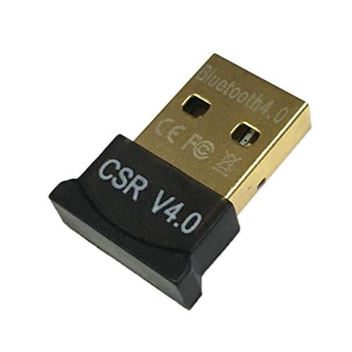 Adaptador USB Bluetooth -Mini Adaptador USB CSR Dual Mode Wireless V4.0 EDR Dongle Transmisor USB para Windows 7 8 10 PC portátil - Negro