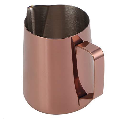 Jarra espumosa, Taza de café, Pico en Forma de águila de 600 ml Diseño humanizado Resistente a la corrosión de(600ML Rose Gold -304)