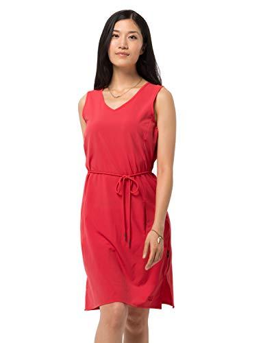 Jack Wolfskin Damen Tioga Road Dress Kleid, Tulip Red, M