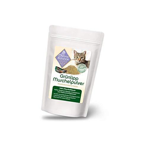 ChronoBalance Grünlippmuschelpulver für Katzen, hoher Anteil an Omega-3-Fettsäuren, für Gelenke, Futter-Zusatz +++NEU+++ (100g)