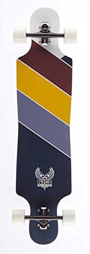 Nice Tour Longboard Mixte Adulte, Multicolore, 9,25\