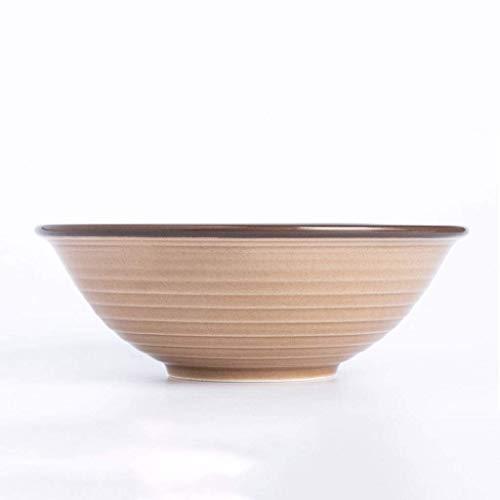 GaoF Cuenco Cuenco de Sopa Individual para el hogar Cuenco de Fideos de 7.6 Pulgadas Vajilla de cerámica Simple Cuenco de Ensalada de Pasta Occidental (Color: Gradiente de café)