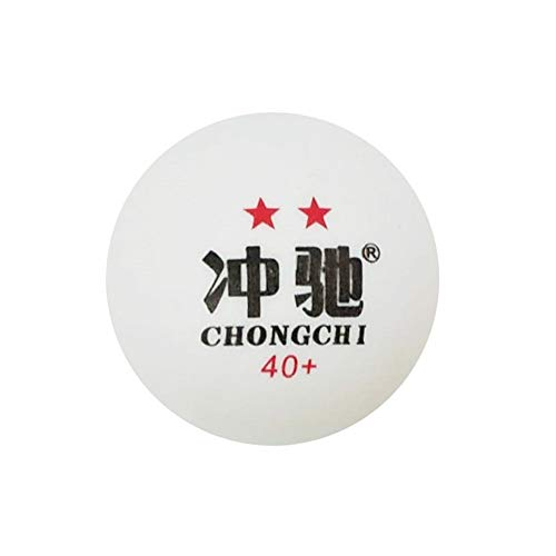For Sale! Wuzhongdian 50/Bag, 30/Bag, Two-sta 3 Star Table Tennis, Multi-Ball Training, New Material for Competition 40+ Resistant to Seamless Ball (Color : White, Edition : 2 stars-50)