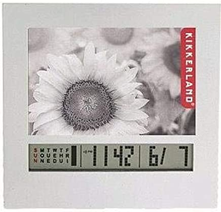 Electronic picture frame & LCD calendar & alarm by Kikkerland® - 2x3