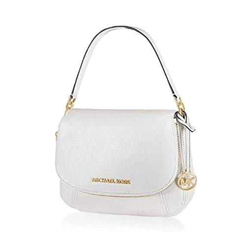 "Pebbled Leather; Silver Tone Hardware Top Flap Closure with zipper around the flap that can open to a compartment. Inside: MK signature fabric lining, 1 large zippered pocket & 1 large slip pockets Shoulder strap with 7"" drop & Adjustable Detachable ..."