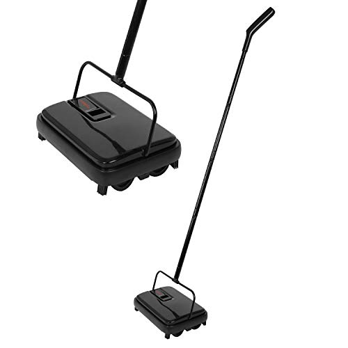 Great Deal! E.yliden Black Handy Floor Carpet Sweeper Lightweight Compact Durable and Easy to Store ...