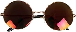 オシャレ度アップ! カラーレンズ レトロチック サングラス かわいい 丸眼鏡風