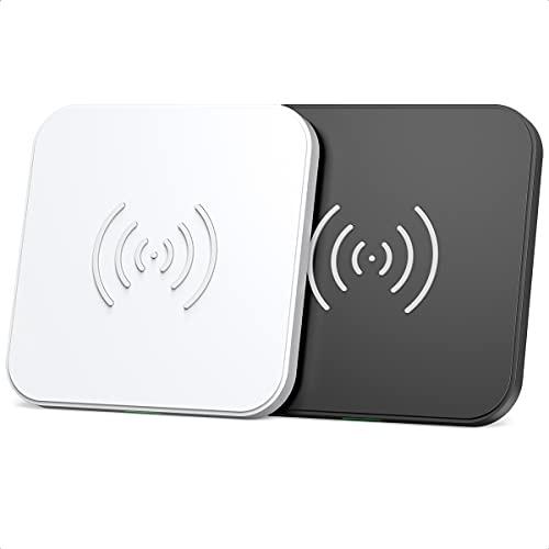 Wireless Charger 2 Pack, Schnelle kabellose Ladestation 7.5W für iPhone 12/12Pro/11/11 Pro Max/SE 2/XS/XR/X, 10W für Samsung S20/S10/S9/S8/Note20/Note10/9, 5W für Huawei P30 Pro, Airpods2/Pro