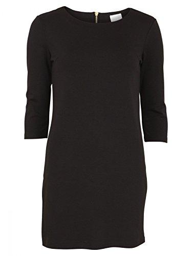 Vila Clothes VITINNY NEW DRESS, Vestido Mujer, Negro (Black), M (Talla fabricante: M)