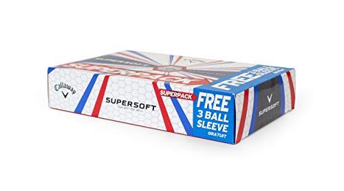 Callaway 2019 Supersoft Golf Balls, White (15 Pack)