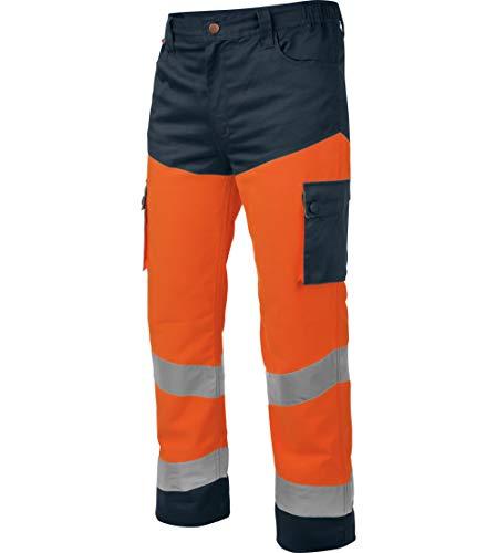 WÜRTH MODYF Pantalon de Travail Haute-visibilité Orange/Marine - Taille L