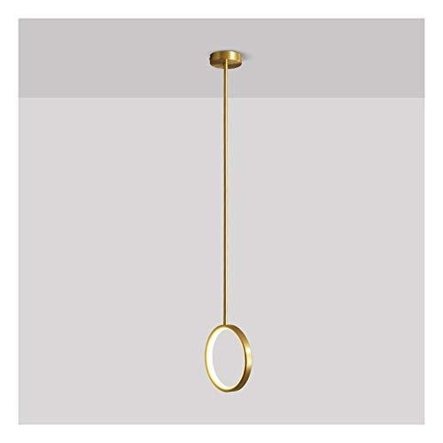A-ZHP Lámpara Colgante Dormitorio de Noche de Noche de Pared de Pared de la Pared Barra de la habitación All Copper Single Head Hanger