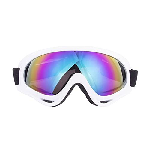 Morninganswer Gafas de esquí UV Gafas de Snowboard para Hombres Mujeres Gafas de Motocicleta antiniebla Blanco