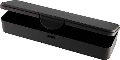 Hygiene-Box Kundenbox Feilenbox Arbeitsmaterial-Box schwarz 220x65x35 mm LxBxH