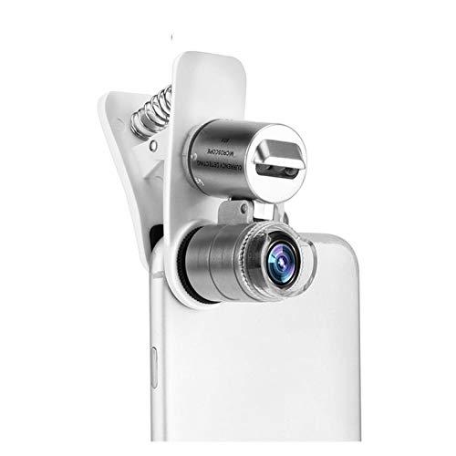 Lente de la cámara Led lentes universal del teléfono móvil de la lente del microscopio Macro 60X de zoom óptico de la lupa micro cámara clip for el iPhone 5S 6S SE Plus Cubierta de la lente telefónica