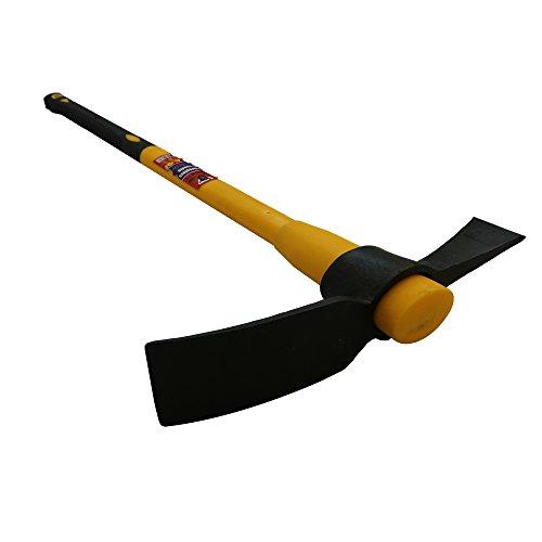 Mighty Products Heavy Duty 5lb Pick axe Grubbing Mattock Steel Head +Fibreglass Handle shaft 90cm...