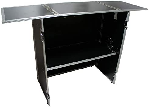 Harmony Case HCDJSTANDT Compact Fold Out Portable DJ Workstation Table product image