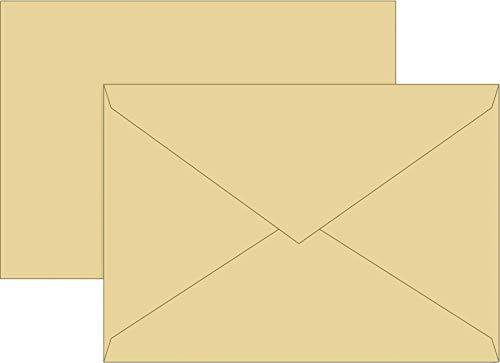 Brunnen 105125214 envelop universeel papier, C6, 10 stuks, honing