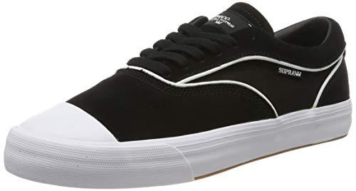 Supra Men's Skateboarding Shoes, Black Black White M 2, 11