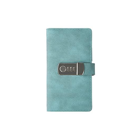Cuaderno clásico Diario portátil para Mujeres Diario con Lock Bloc de Notas Escritura Libro con Cerradura para Hogar y Oficina, 10.5X 18.3cm 100 Hojas y 200 páginas (Color : Blue)