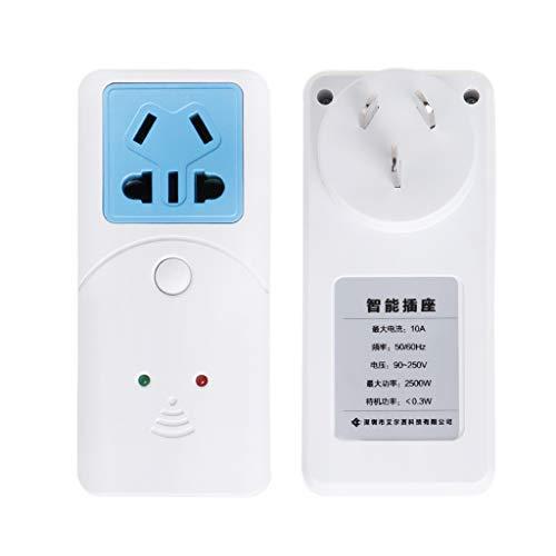 Qirun WiFi Smart Socket Wireless App Adaptador de Enchufe de Control Remoto Salida de sincronización