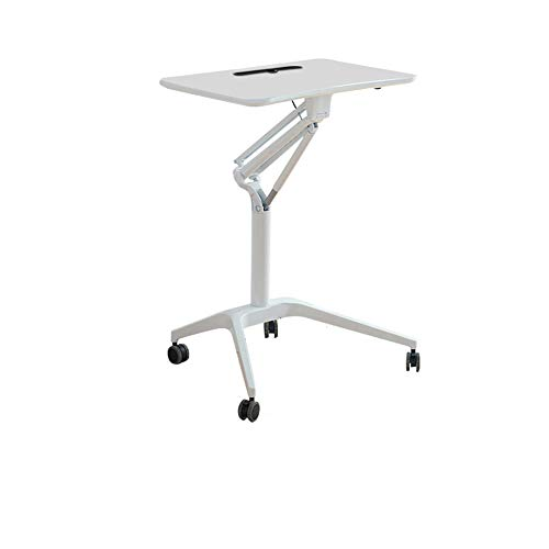 Muebles Mobile Sit-abajo,Soporte-up Mahogany Computer Ergonomic Desk,Con Ruedas Multitarea Ajustable Escritorio Móvil (710 * 445mm)-E 710 * 445mm
