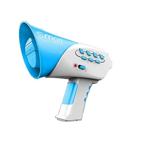 STOBOK - Cambio vocale con 7 voci diverse voci, cambio clacson e suonatori di megafono per bambini, colore: Blu
