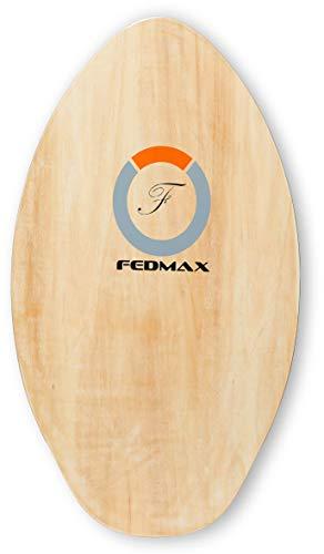 "Fedmax Skimboard with High Gloss Coat   Natural, 41"" (120lbs. - 220lbs.)   Skim Board for Kids/Adults."