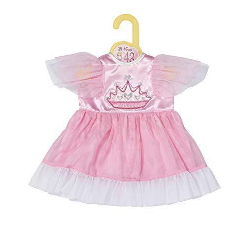 Zapf Creation 871058 Dolly Moda Prinzessin Kleid 43cm - Puppenkleidung rosa Puppenkleid mit Tüll
