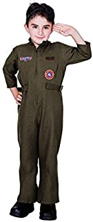 flatwhite Child Air Force Fighter Pilot Halloween Costume