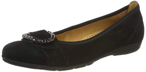 Gabor Shoes Damen Gabor Casual Geschlossene Ballerinas Schwarz (Schwarz 17), 39 EU