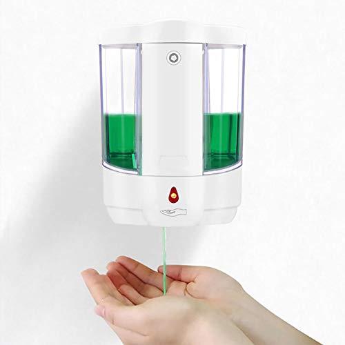 FGFG Dispensador de jabón con Sensor Inteligente, Caja de Lavado de Manos montada en la Pared sin Contacto para el hogar, Sensor de Infrarrojos, Adecuado para baño doméstico, Cocina, Hotel, 800 ml