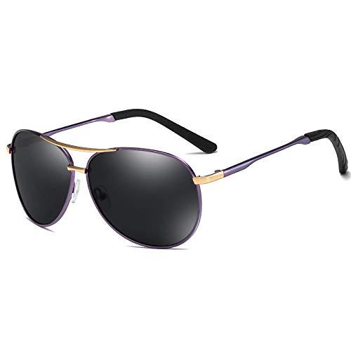 Astemdhj Gafas de Sol Sunglasses Gafas De Sol Polarizadas Piloto Clásicas para Hombre, Gafas De Sol Polarizadas con Montura De Metal Retro Vintage para Hombre, Gafas De Sol PolariAnti-UV