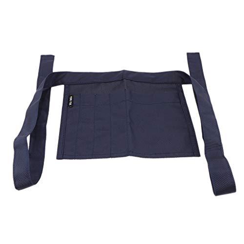 SM SunniMix Bolso de Cintura de Enfemería Delantal de Enfermera con 5 Bolsillos Riñonera para Peluquería Camareros - Azul real, tal como se describe